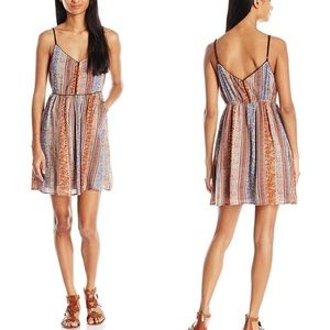 O'Neill Anitta Boho Print Mini Dress Corset Chest